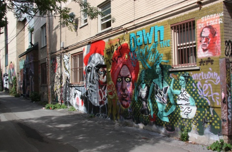 general view of the St-Denis|Drolet back alley between Duluth and Roy