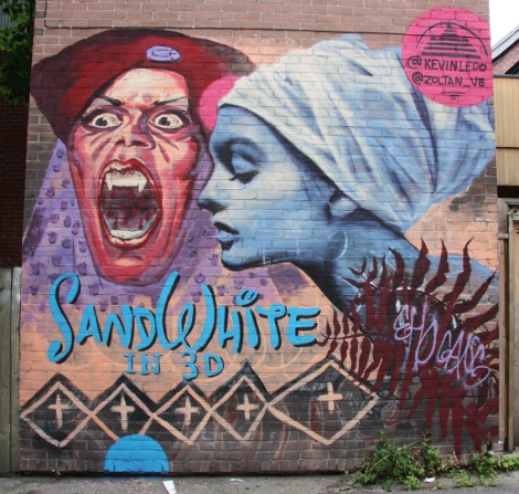 mural by Zoltan V and Kevin Ledo in St-Denis Drolet alley between Duluth and Roy