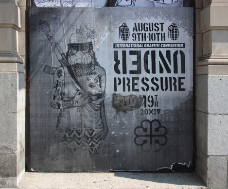 Under Pressure Festival zone 2014 - art by Miss Me