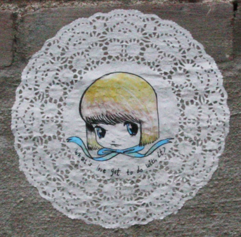 Stela doilie paste-up