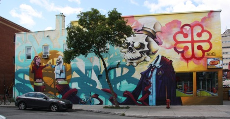 Scaner and Axe contribution to the 2014 edition of the Mural Festival