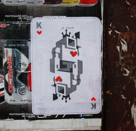 Lovebot wheatpaste on DesPins