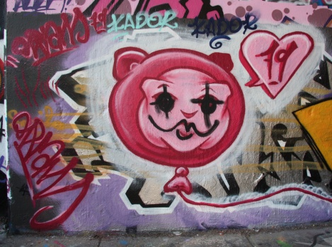 Oram79 on legal graffiti wall of underpass on de Rouen