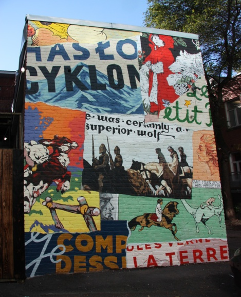 mural by William Patrick and Adam Sajkowski for Mu on Savoie