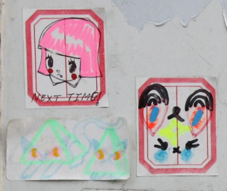 Stela (top left) and Zu (bottom two) stickers