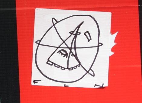Futur Lasor Now hand drawn sticker