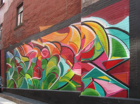 mural by M.Abstrakt in Roy alley