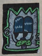 Grim hand drawn sticker