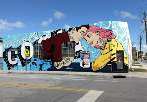 WhatIsAdam mural in Wynwood, Miami for the 2017 edition of Art Basel