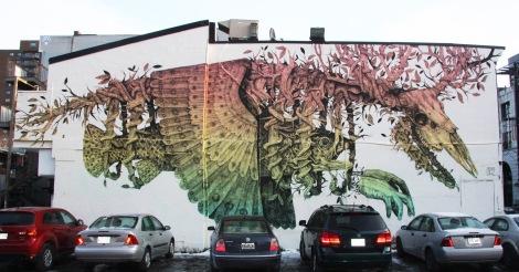 Alexis Diaz mural for Mural Festival 2014