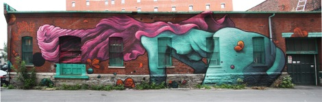 Botkin and Shantz mural on de Longueuil