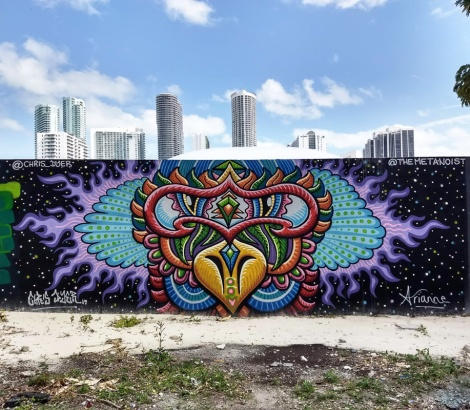 Chris Dyer and girlfriend Arianne in Wynwood for the 2019 edition of Art Basel