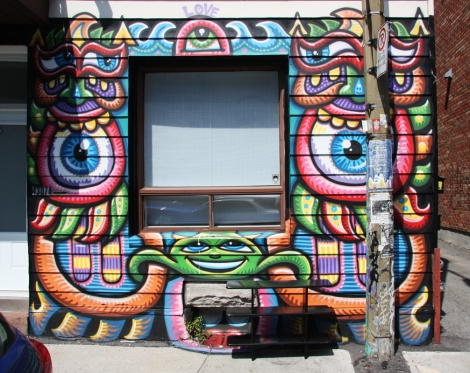 House front on Clark by Chris Dyer aka Positive Creations