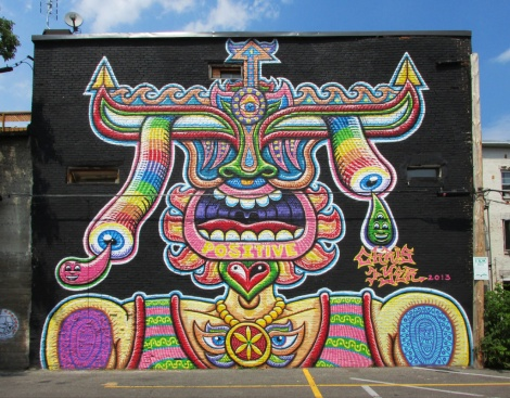 contribution to the 2013 edition of the Mural Festival from Chris Dyer aka Positive Creations