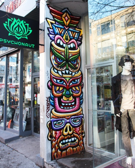 Chris Dyer on St-Laurent business storefront