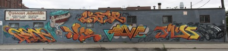 Graffiti by Cens, Opire, Awe, Five Eight, Lyfer and Juice Funk on St-Rémi