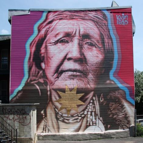 Kevin Ledo mural for Mural Festival 2014
