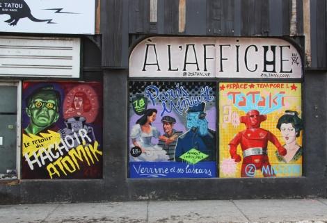 Zoltan murals on Rachel for Le Hachoir