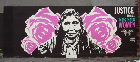 Jessica Sabogal mural for Decolonizing Street Art event 2014
