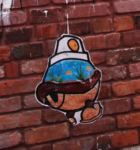 Turtle Caps wheatpaste