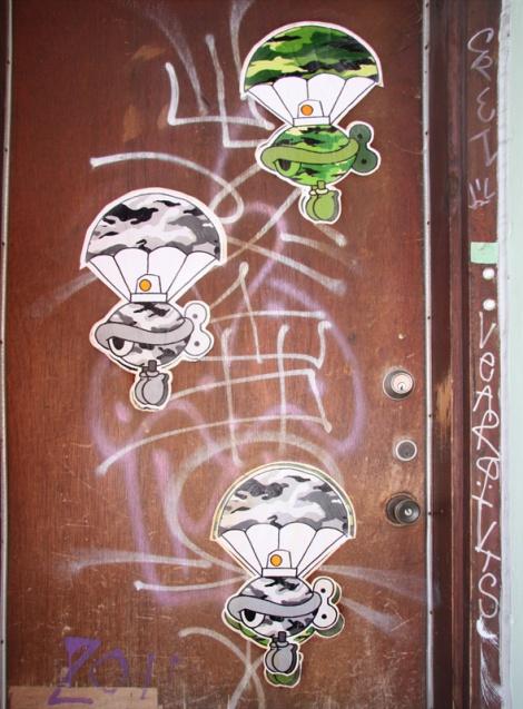 Turtle Caps wheatpastes