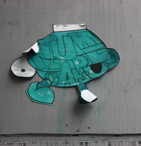 Turtle Caps wheatpaste