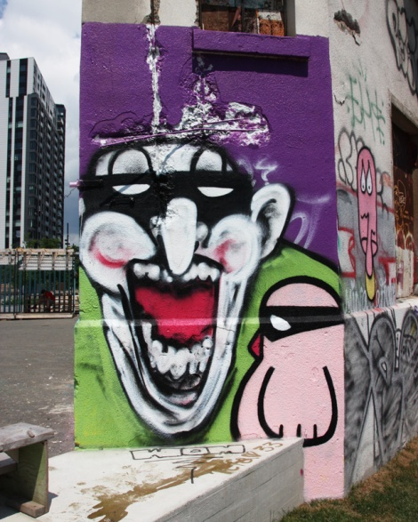 IAmBatman (bigger character) and ROC514 (pink bird) in Old Montreal