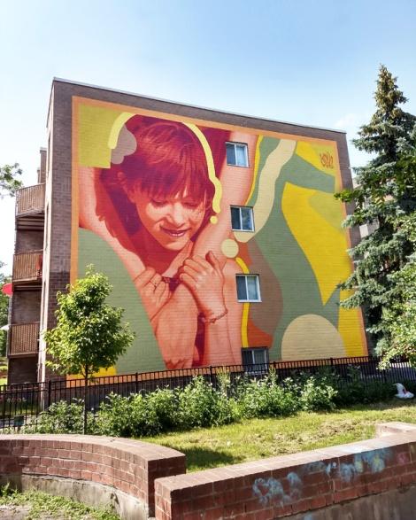 Kevin Ledo mural in Hochelaga