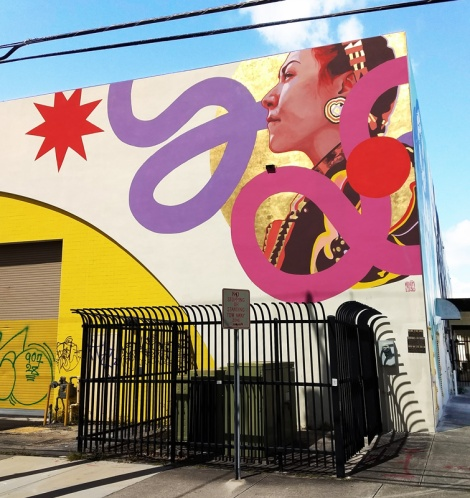 Kevin Ledo mural for the 2016 edition of Art Basel in Miami