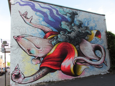 mural by Zema for the 2014 edition of Mural Festival