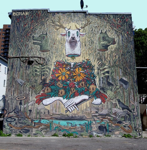mural by Bonar for the 2013 edition of Mural Festival
