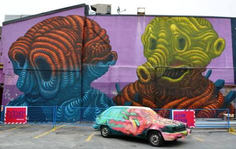 mural by Botkin for the 2013 edition of Mural Festival; photo © Street Art News