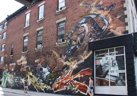 mural by Stare & Tchug for the 2013 edition of Mural Festival