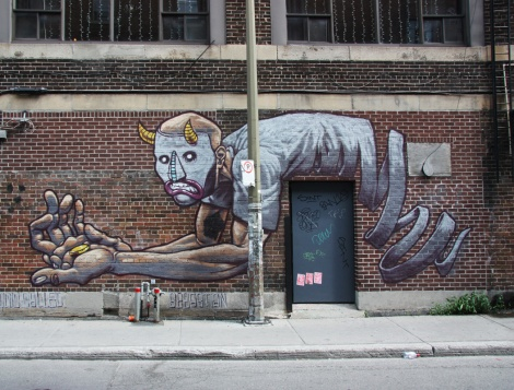 mural by Squid Called Sebastian for the 2013 edition of Mural Festival