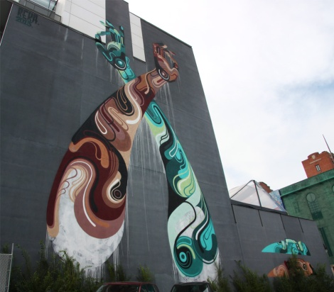 mural by Reka One for the 2013 edition of Mural Festival