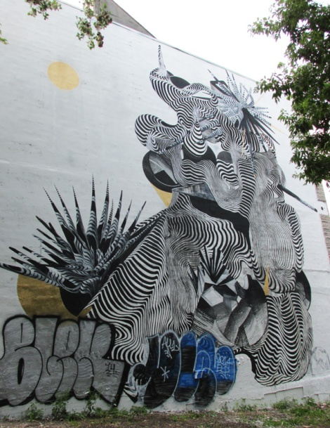 mural by 2501 for the 2014 edition of Mural Festival