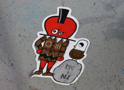 collaboration sticker between National Zombi and ROC514