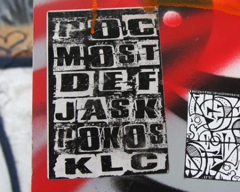 KLC crew sticker featuring ROC514, Most, Def, Jask, Rokos