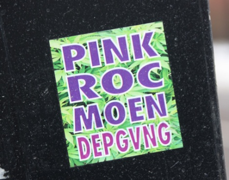 Pink, ROC514 and Moen sticker