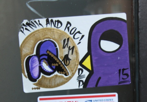 collaboration sticker between Cantstopink (left) and ROC514 (right)
