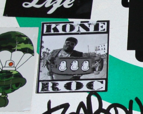 sticker collaboration between ROC514 and Kone