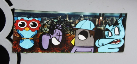 collaboration sticker between, from left to right, DMT, Pink, ROC514 and Moen