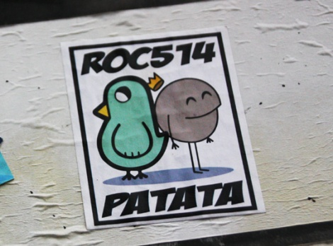 collaboration sticker between ROC514 and Patata