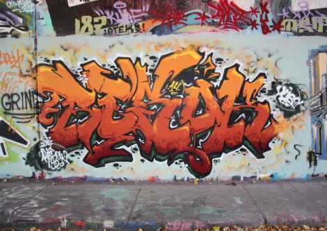 Resok at the Rouen tunnel legal graffiti wall