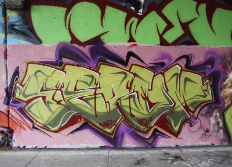 Serum on Rouen tunnel legal graffiti wall