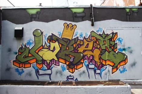 Jaber on Wurtele near de Rouen legal graffiti tunnel