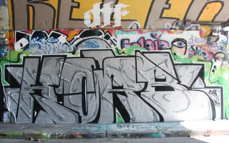 Korb from Crazy Apes at the Rouen legal graffiti tunnel