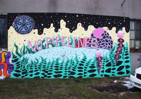 Swarm mural for Decolonizing Street Art