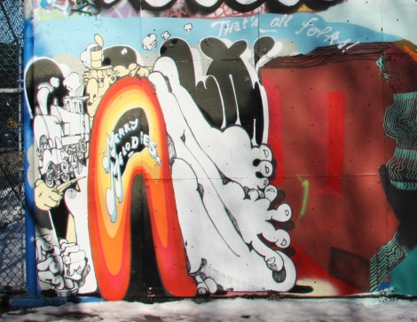 Vilx's portion of a mural piece in Pointe St-Charles