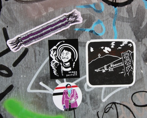 Decolonizing Street Art stickers distributed by Zola